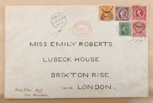 Stamps - World: the Victorian autograph and scrap album of Miss Emily Roberts, circa 1862-1897, with
