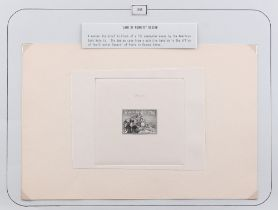 """The Basil Lewis (1927-2019) collection of stamps - Argentina: 1935 """"Land of Promise"""" 15c essay, a"""