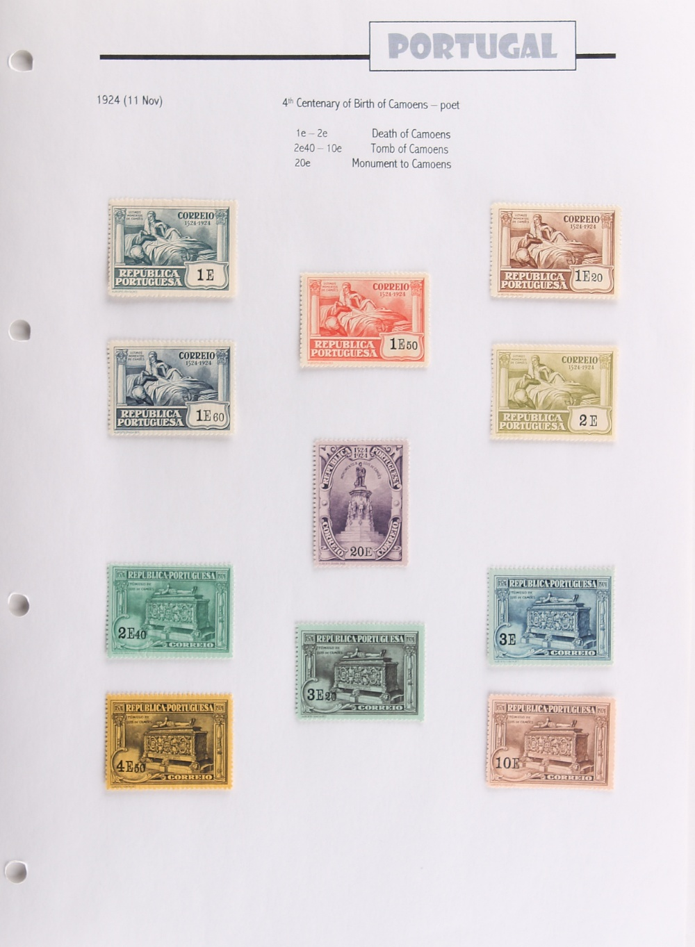 The Basil Lewis (1927-2019) collection of stamps - Portugal: In one volume including 1917-26