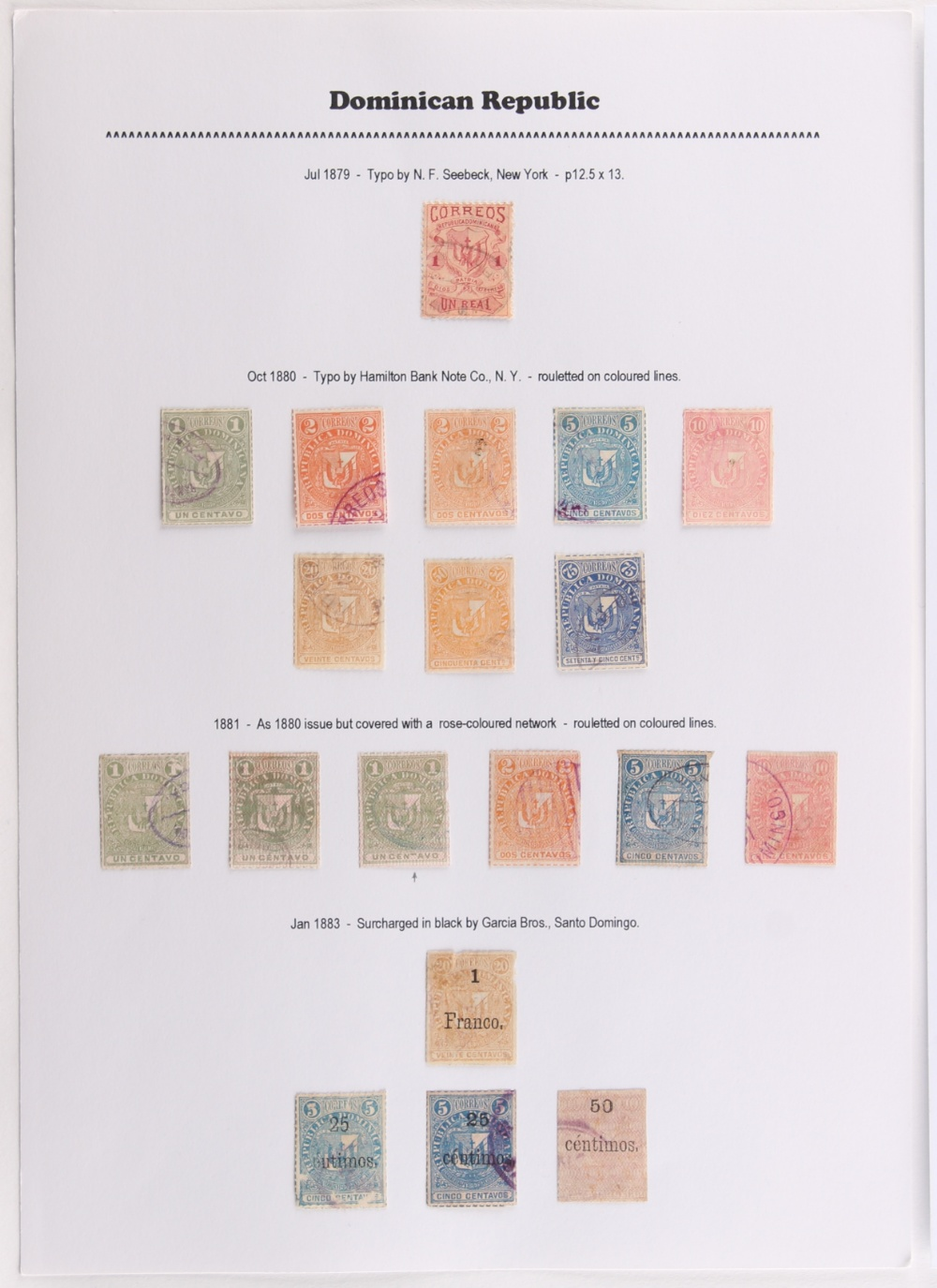 The Basil Lewis (1927-2019) collection of stamps - Latin America on pages with Chile including