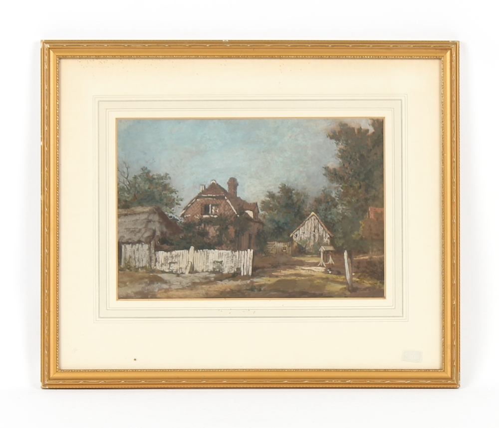 Property of a gentleman - Patrick Nasmyth (1787-1831) - A COUNTRY COTTAGE - watercolour & gouache,