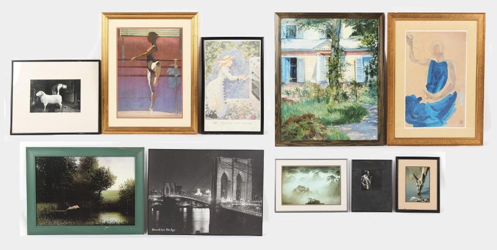 Property of a gentleman - a group of ten assorted modern prints & photographs, all framed (10).