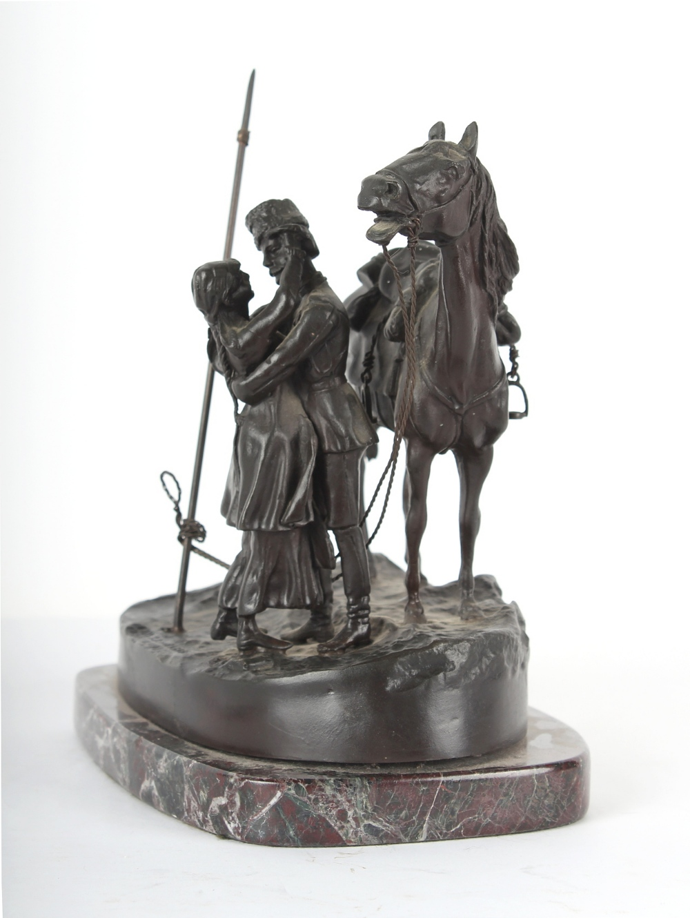 Property of a gentleman - after Vasily Grachev (1831-1905) - a late 19th century Russian patinated - Image 3 of 4