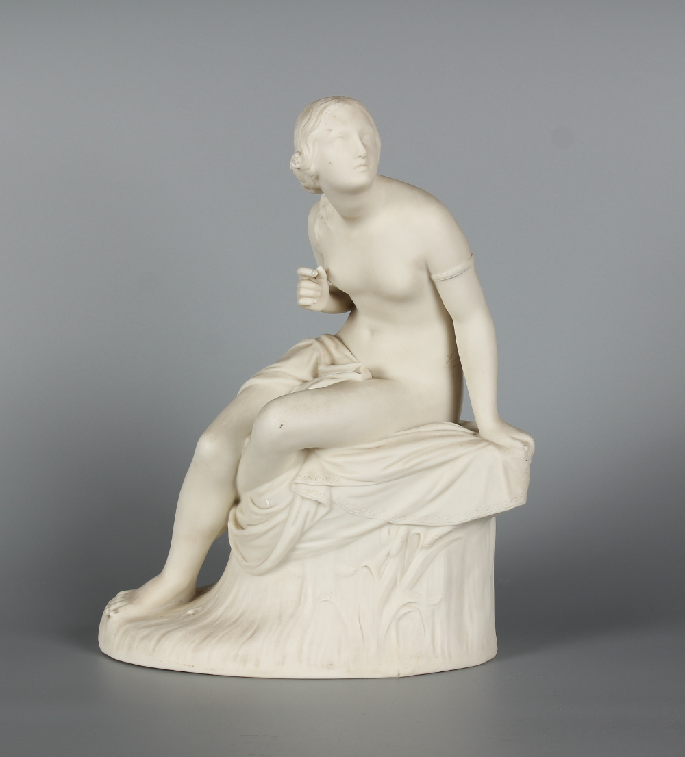 Property of a deceased estate - a Victorian Parian figure of Sabrina, probably Copeland, after the