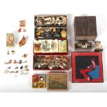 Property of a deceased estate - a quantity of assorted toys & games including boxed Card-Houses,