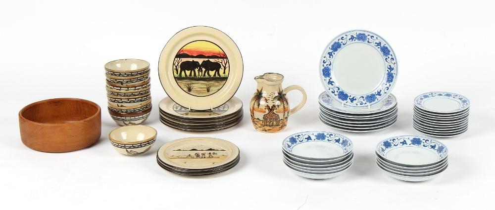 Property of a gentleman - a mixed lot of modern ceramics including dinner ware by Nkhotakota