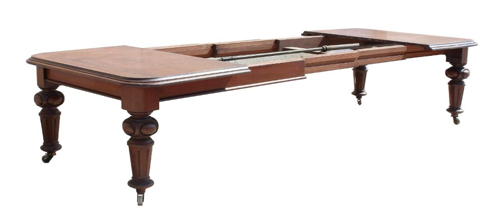 Property of a gentleman - a Victorian mahogany telescopic wind-out extending dining table with one