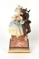 Property of a deceased estate - a Royal Copenhagen group, The Shepherdess and The Chimney Sweep,