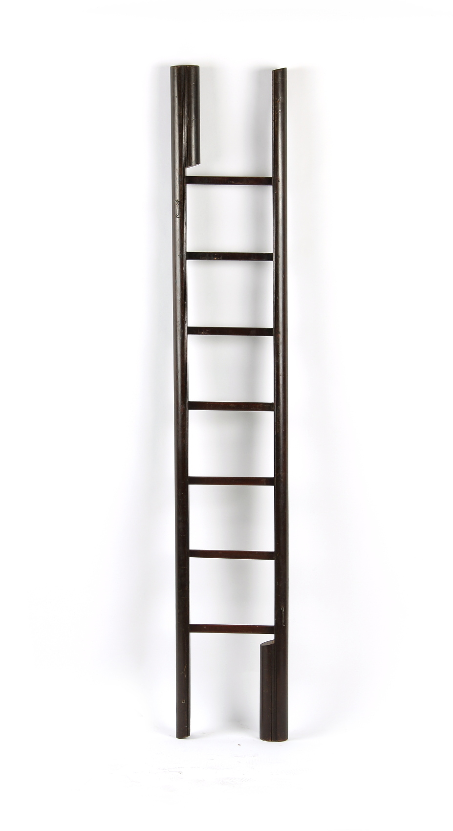 Property of a deceased estate - a mahogany folding library ladder, late 20th century, 88.5ins. (
