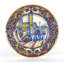 Property of a lady - a large late 19th century Italian Cantagalli lustre charger, 19.85ins. (50.