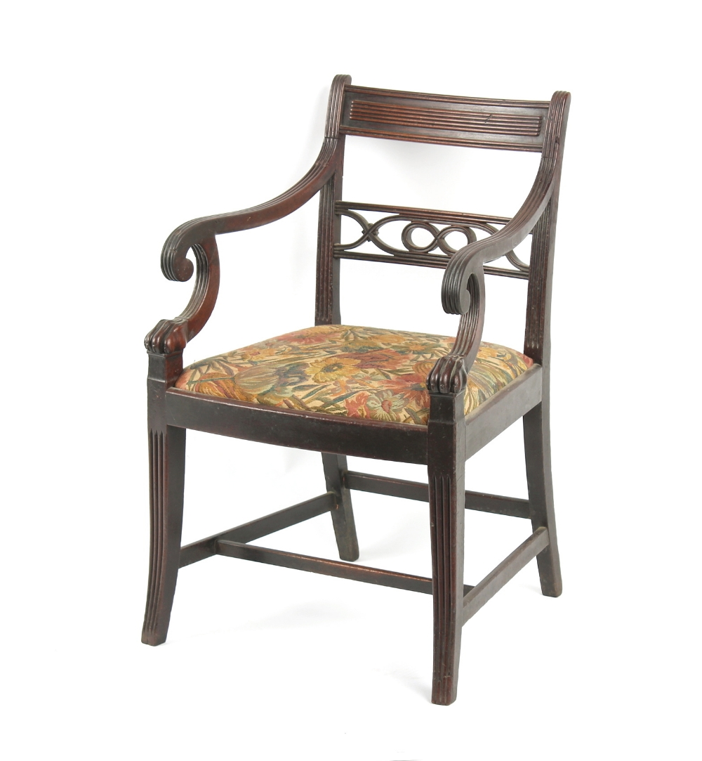 Property of a deceased estate - an early 19th century Regency period mahogany elbow chair with