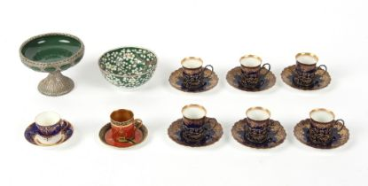 Property of a lady - a mixed lot of ceramics including a set of six Edwardian Aynsley porcelain