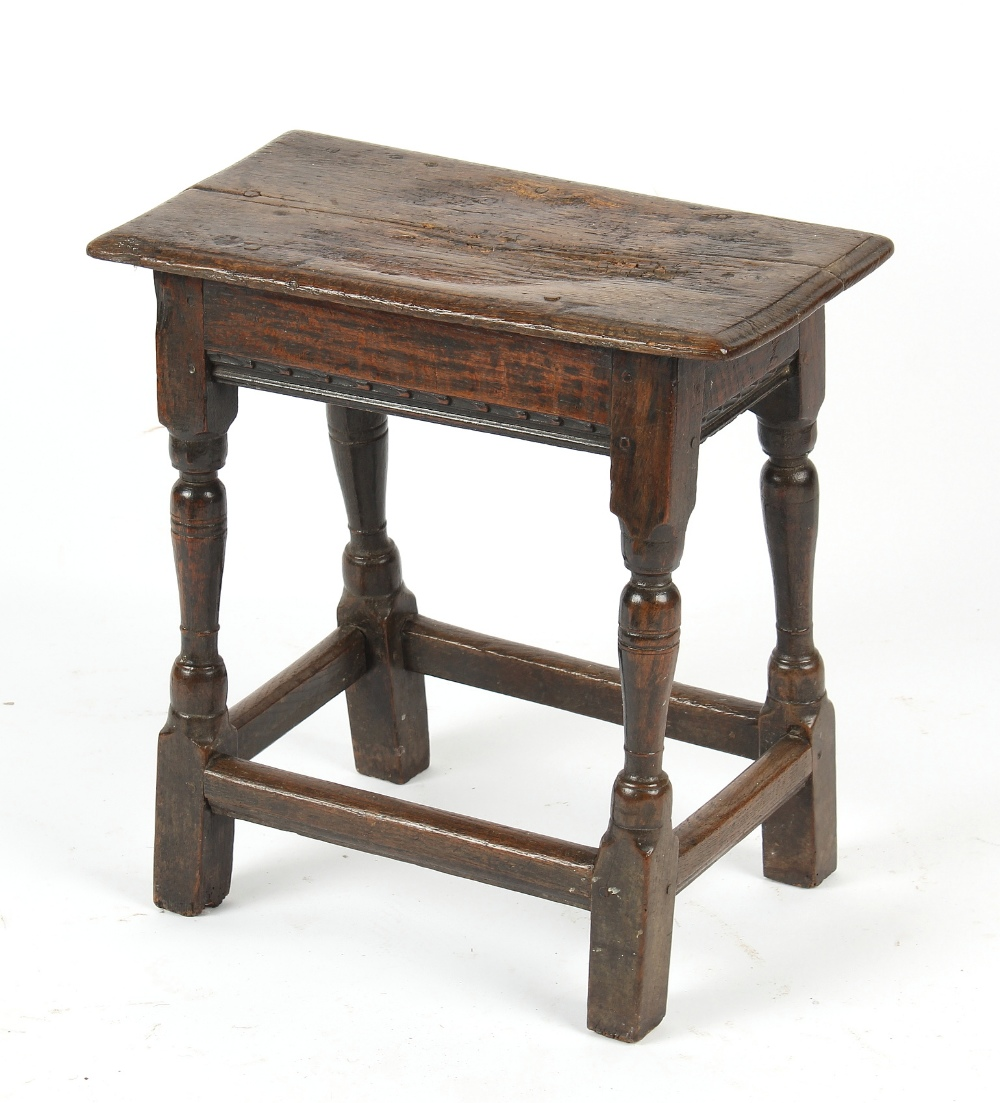 Property from the estate of the late Julian Bream (1933-2020) - a 17th century oak joint stool, 20.