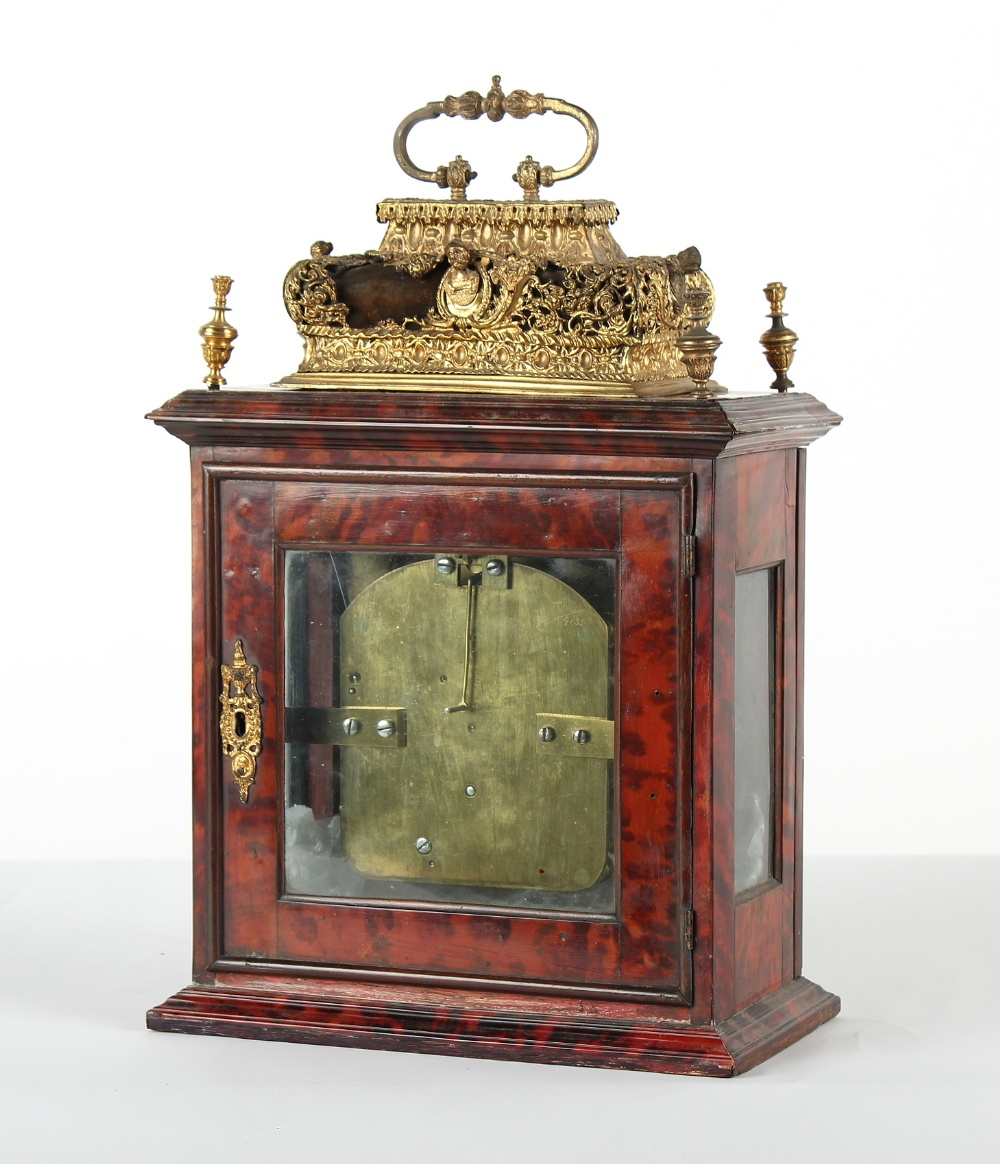 The Henry & Tricia Byrom Collection - a late 17th century red tortoiseshell & brass basket top table - Image 3 of 4
