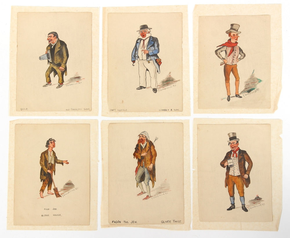 Property of a lady - George Cruikshank (1792-1878) - DICKENS CHARACTERS, EACH TITLED ON FRONT OR