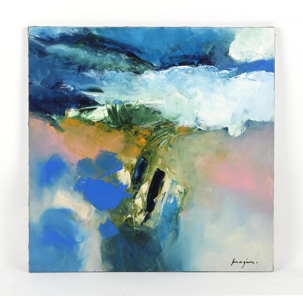 ARR - Property of a gentleman - Pascal Magis (1955-2011) - 'LE SAUMON SAUTER' - oil on canvas, 39.