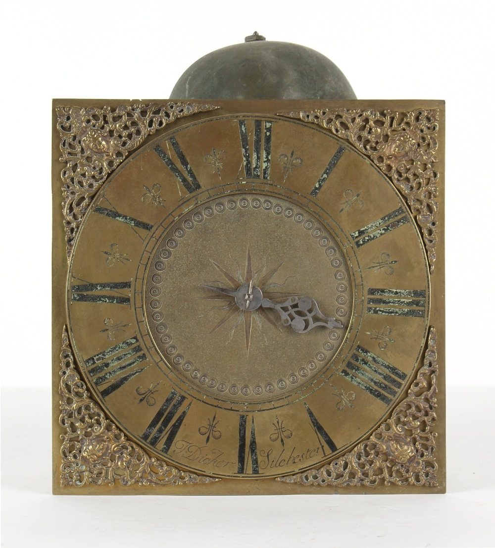 The Henry & Tricia Byrom Collection - Thomas Dicker, Silchester, a 30-hour longcase clock movement &