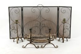 Property of a deceased estate - a quantity of fire furniture comprising a pair of forged iron fire