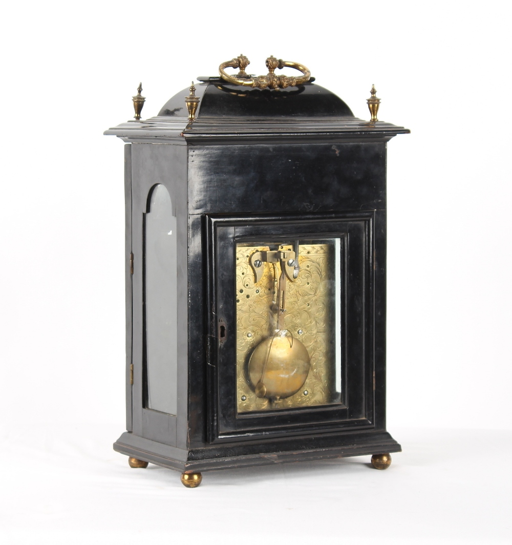 The Henry & Tricia Byrom Collection - George Wentworth, Oxon, an ebonised table clock, circa 1740, - Image 3 of 3