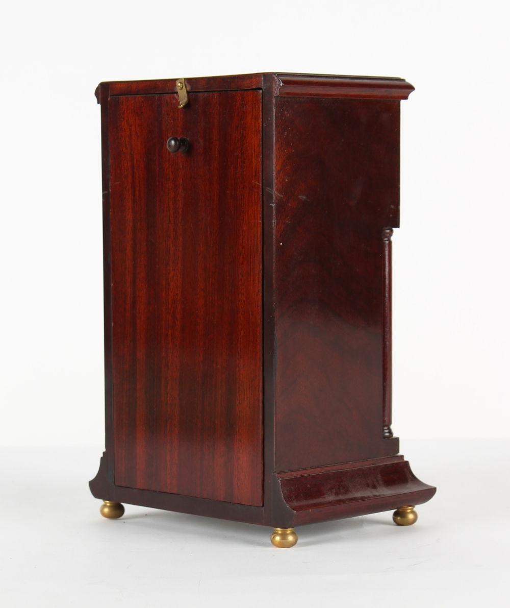 The Henry & Tricia Byrom Collection - a mahogany mantel clock, the late 19th century French Marti et - Image 3 of 3