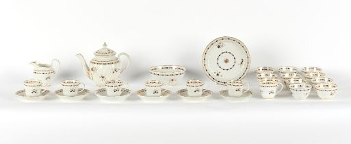 Property of a gentleman - a late 18th century Worcester porcelain spiral fluted or wrythen twenty-
