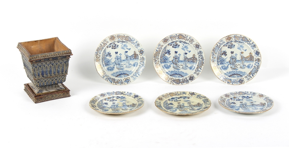 Property of a deceased estate - a set of six early 19th century Mason's Patent Ironstone China