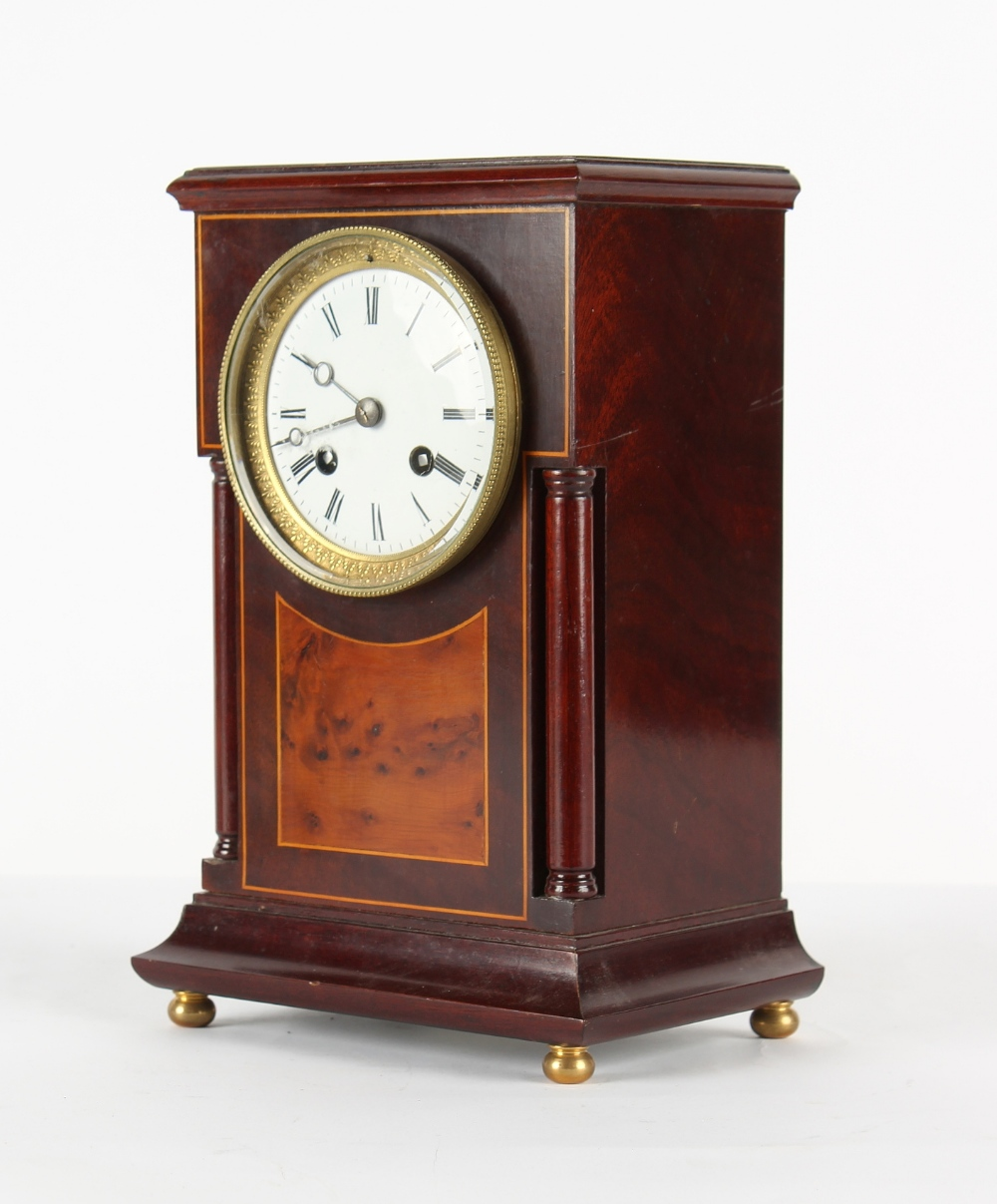 The Henry & Tricia Byrom Collection - a mahogany mantel clock, the late 19th century French Marti et - Image 2 of 3