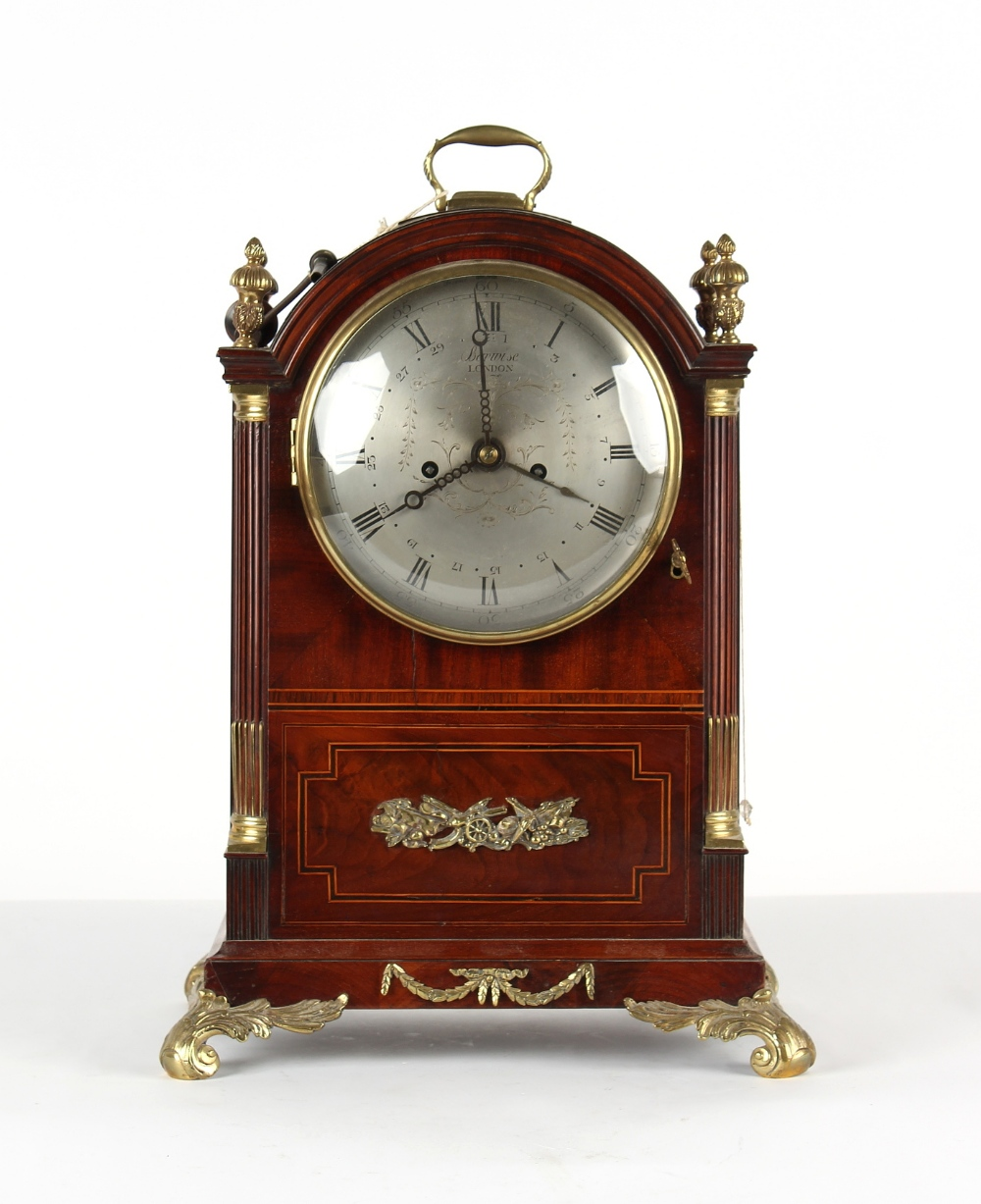 The Henry & Tricia Byrom Collection - Barwise, London, a mahogany cased bracket clock, circa 1820,