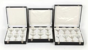 Property of a lady - a good suite of eighteen Stourbridge intaglio engraved 'rock crystal' glass