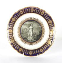 Property of a gentleman - a fine Worcester Flight period plate from the celebrated 'Hope' service