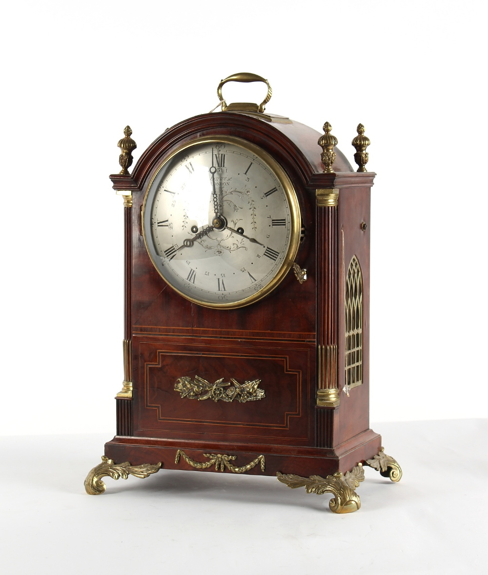 The Henry & Tricia Byrom Collection - Barwise, London, a mahogany cased bracket clock, circa 1820, - Image 2 of 3