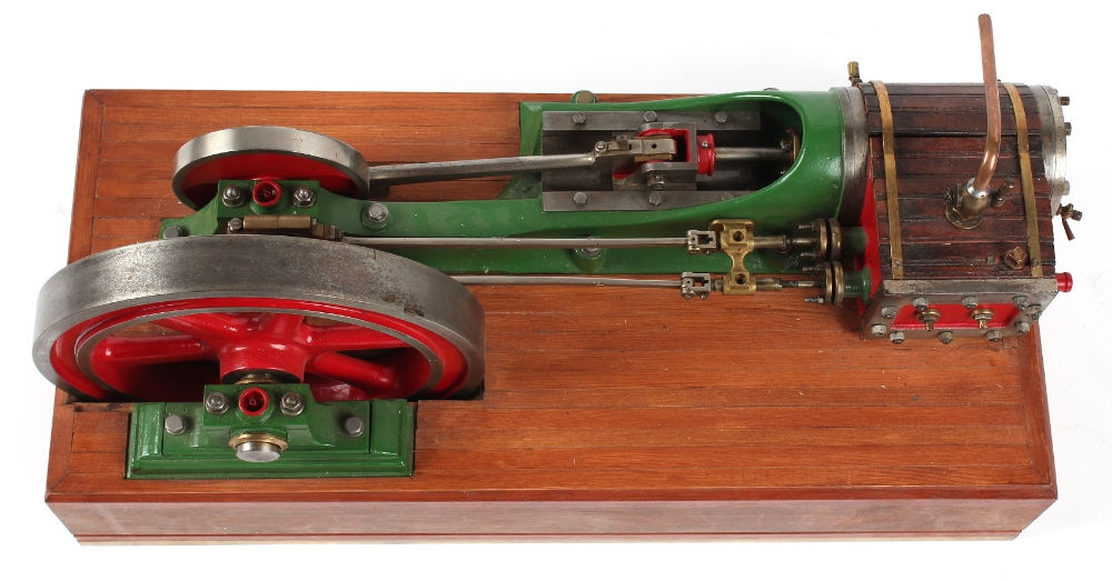 An early 20th century working steam model horizontal mill engine, double acting, with 10.25-inch ( - Image 3 of 3