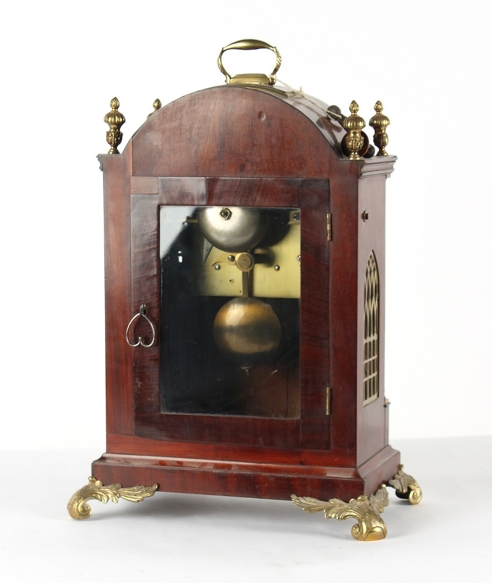 The Henry & Tricia Byrom Collection - Barwise, London, a mahogany cased bracket clock, circa 1820, - Image 3 of 3