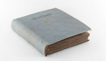 Property of a gentleman - a picture postcard album containing various postcards including naval