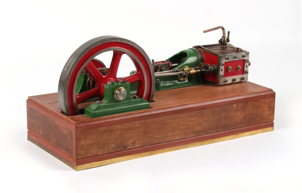 An early 20th century working steam model horizontal mill engine, double acting, with 10.25-inch ( - Image 2 of 3