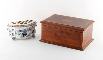 Property of a gentleman - a 19th century English bough pot, unmarked, 7.5ins. (19cms.) wide (
