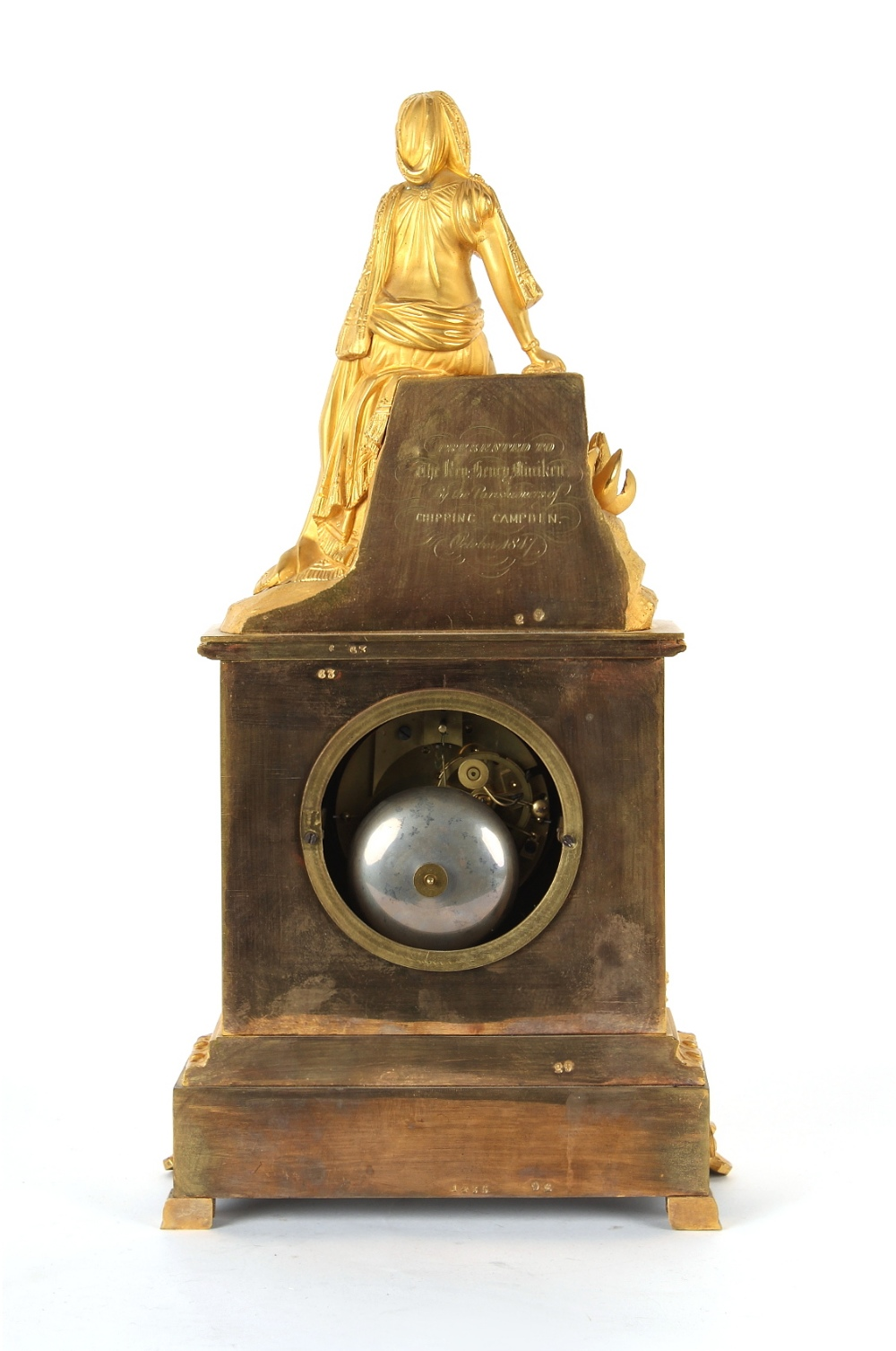 Property of a lady - a French ormolu cased mantel clock, circa 1845, surmounted by a figure of a - Image 3 of 3
