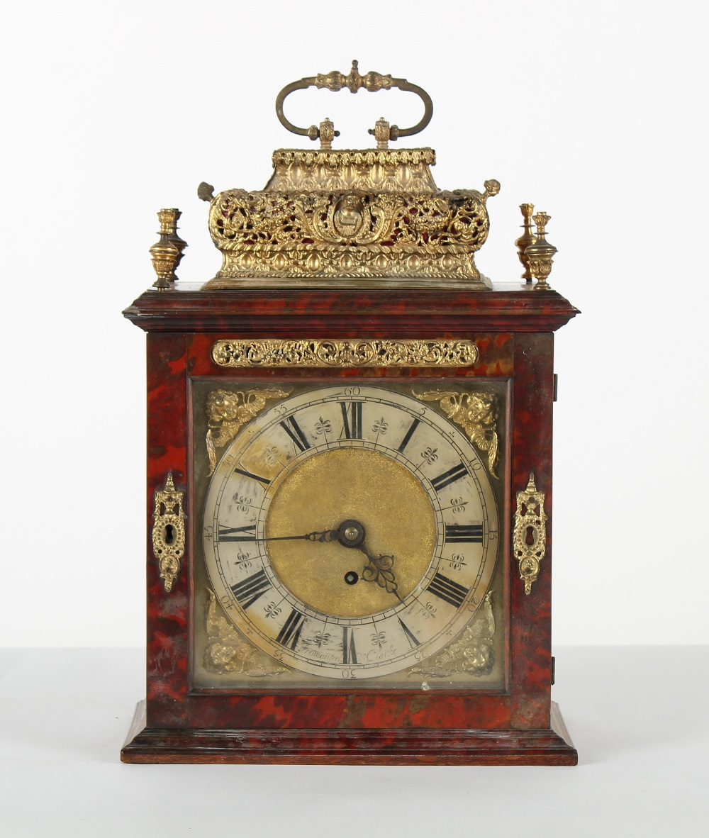 The Henry & Tricia Byrom Collection - a late 17th century red tortoiseshell & brass basket top table - Image 2 of 4