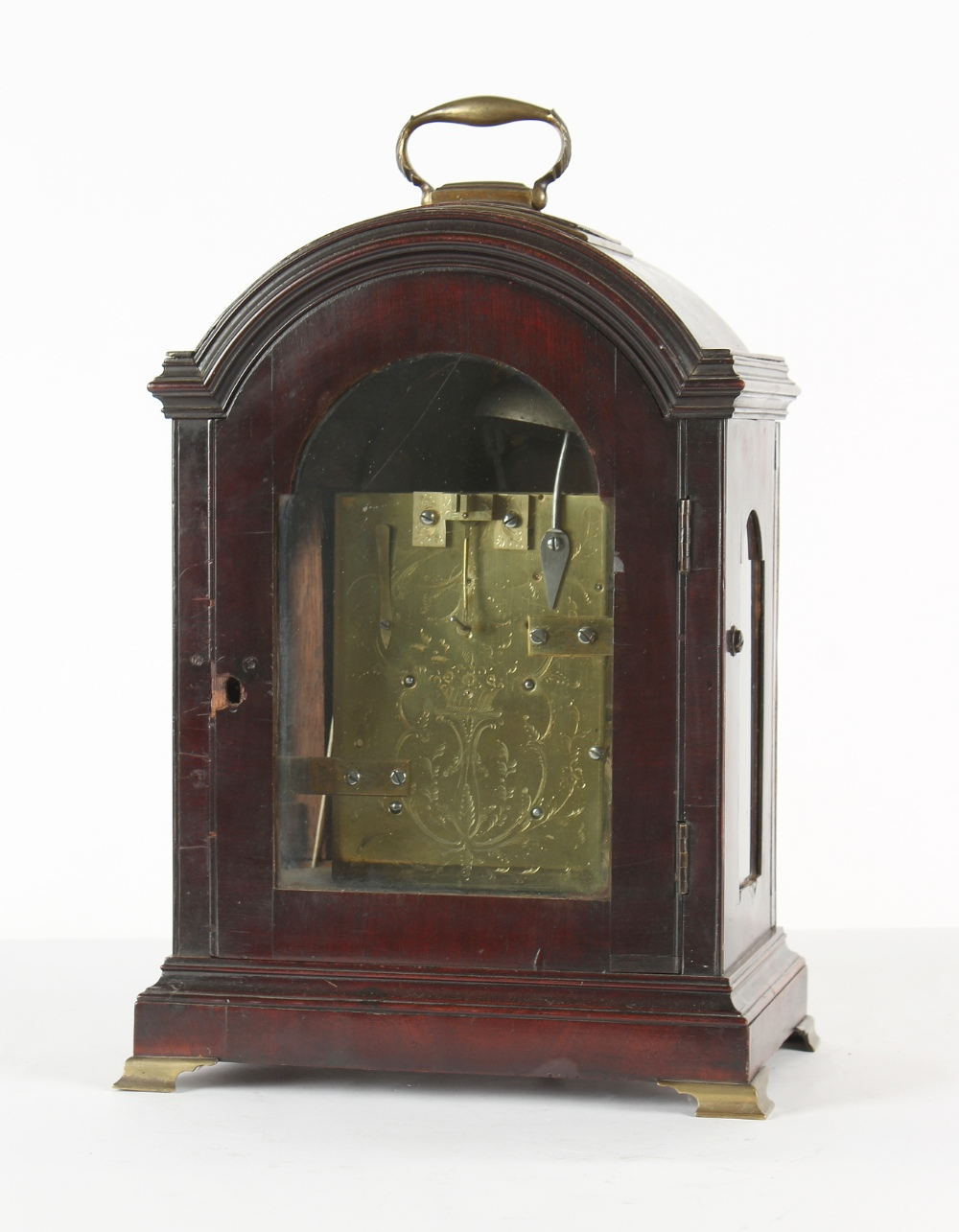 The Henry & Tricia Byrom Collection - William Harris, Chippenham, a mahogany table clock, circa - Image 3 of 3