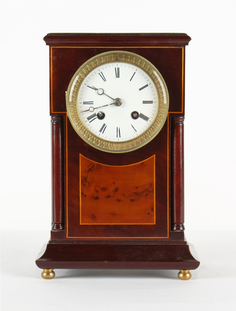 The Henry & Tricia Byrom Collection - a mahogany mantel clock, the late 19th century French Marti et