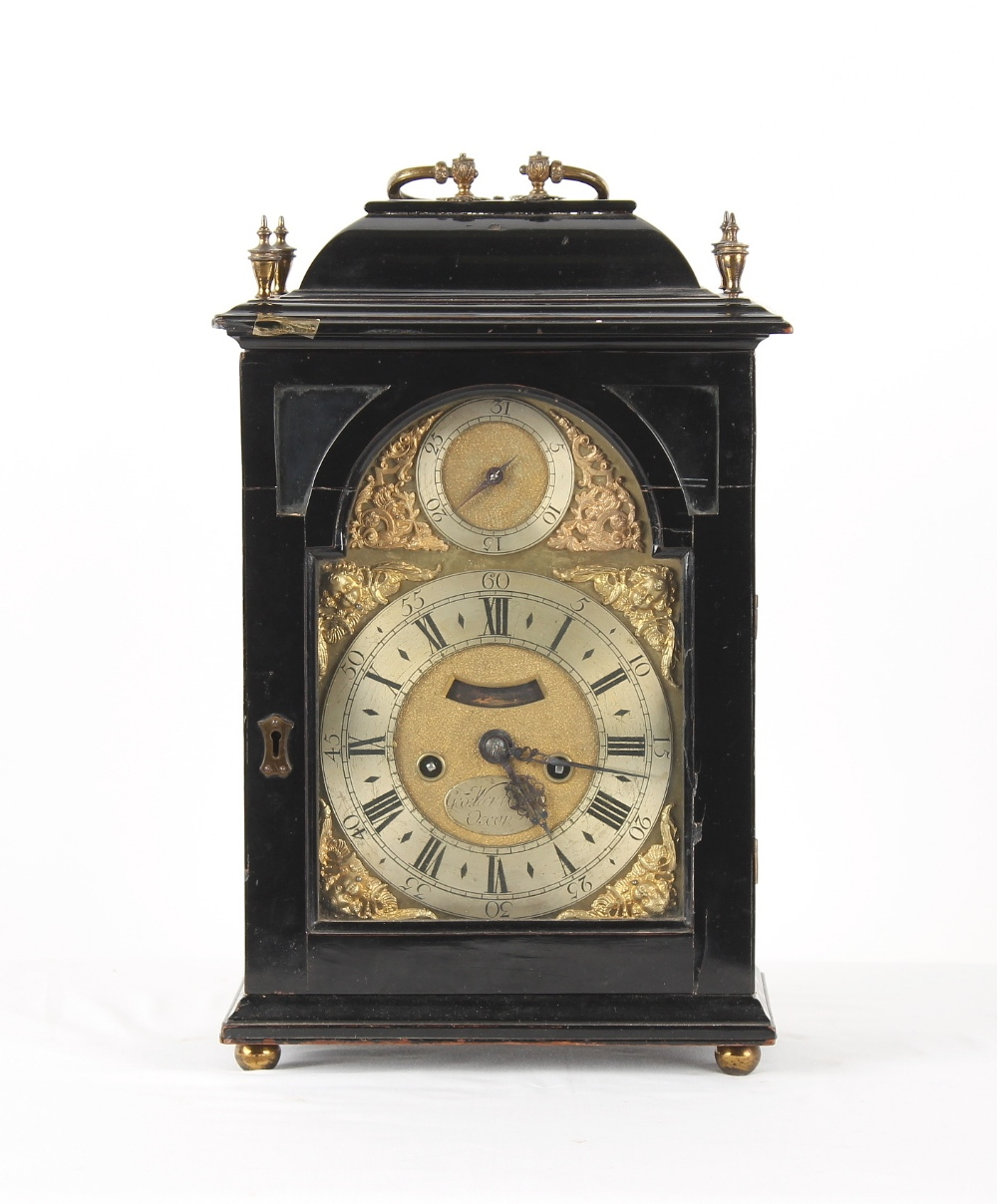 The Henry & Tricia Byrom Collection - George Wentworth, Oxon, an ebonised table clock, circa 1740,
