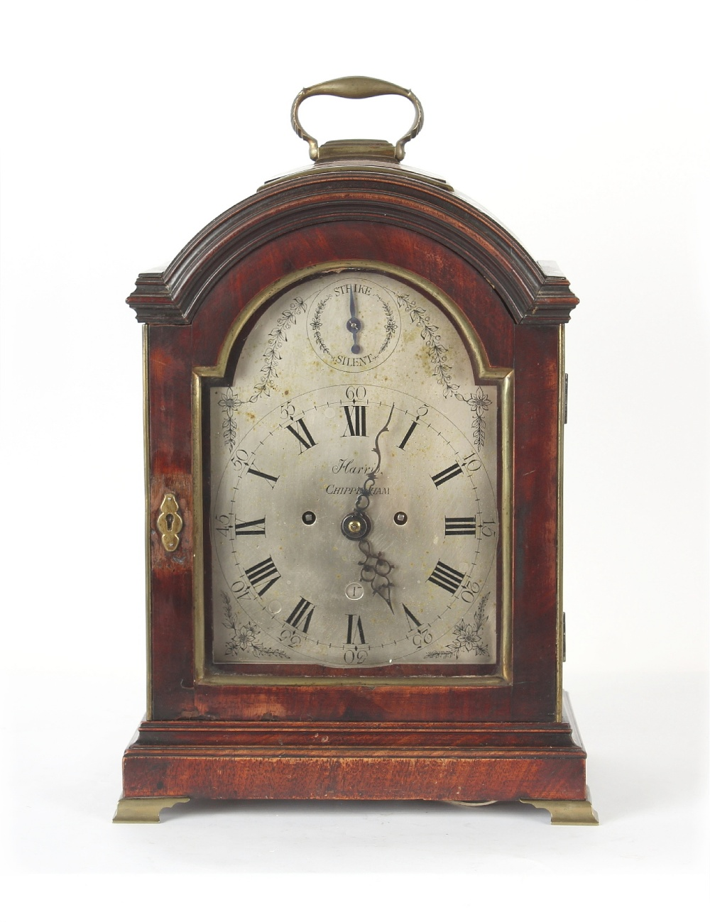 The Henry & Tricia Byrom Collection - William Harris, Chippenham, a mahogany table clock, circa
