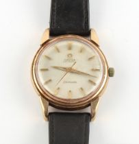 Property of a gentleman - a gentleman's 9ct gold cased Omega Seamaster automatic wristwatch, the bez