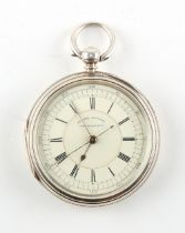 The Henry & Tricia Byrom Collection - a Victorian silver open faced pocket watch with centre seconds