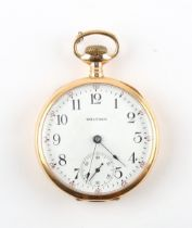 The Henry & Tricia Byrom Collection - a late 19th / early 20th century 14ct gold open faced
