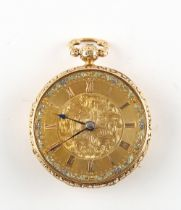 The Henry & Tricia Byrom Collection - an early Victorian 18ct gold open faced pocket watch, the