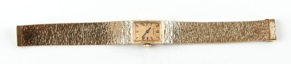Property of a deceased estate - a lady's Bueche Girod 9ct gold cased mechanical wristwatch on