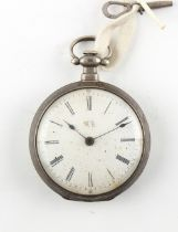The Henry & Tricia Byrom Collection - a 19th century silver pocket watch for the Chinese market, the