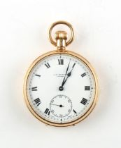 The Henry & Tricia Byrom Collection - a late 19th / early 20th century 9ct gold open faced keyless