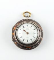 The Henry & Tricia Byrom Collection - a Victorian silver & tortoiseshell triple cased pocket